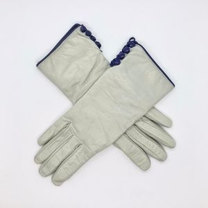 Bill Amberg leather gloves cashmere fur lining 7